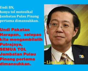 Tiada Tol di Jambatan Pulau Pinang untuk Semua Kenderaan Jika PH Tawan Putrajaya