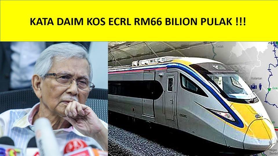 Kata Daim Kos ECRL RM66 Bilion Pula