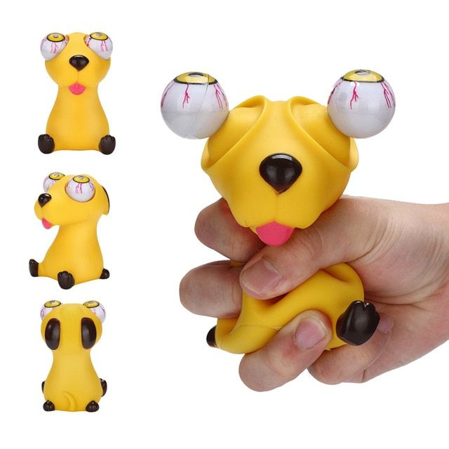 Squeeze Toy Novelties Pop Out Eyes Stress Relief Squeeze Reliever Vent Toys Gift Animal Dog Squishy