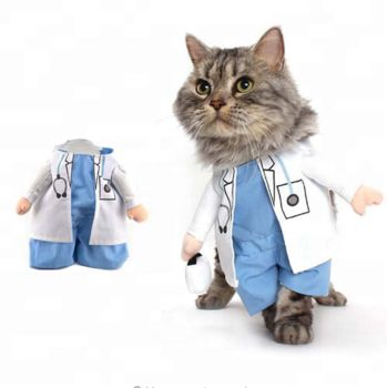 2018 Halloween funny cosplay pet cat doctor costume dog costume clothes pet costumes