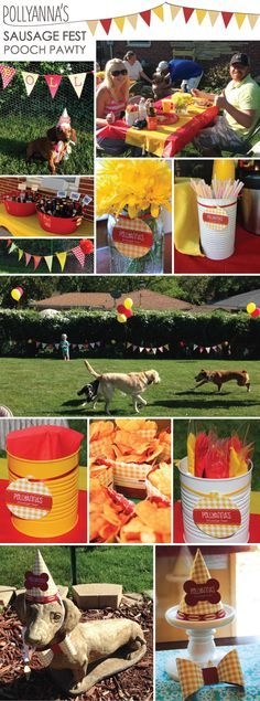 Pollyanna s Sausage Fest Hot Diggity Dog Party Ideas and Decorations PoochPawty Dog Themed Parties
