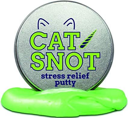 Gears Out Cat Snot Stress Putty – Stress Relief Toys Crazy Cat Lady Gifts Funny Cat