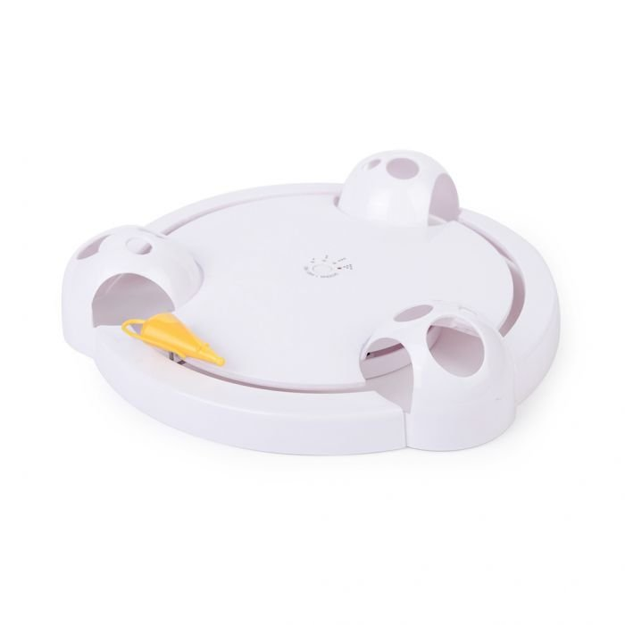Battery Powered Mouse Plate Funny Cat Interactive Indoor Toys