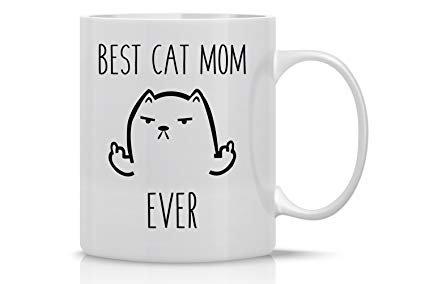 Best Cat Mom Funny Cat Mug 11OZ Coffee Mug Mugs For Women –