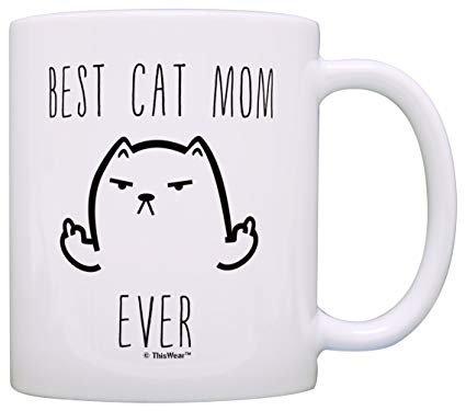 Funny Cat Gifts Best Cat Mom Ever Rude Cat Lovers Cat Memes Gift Coffee Mug Tea