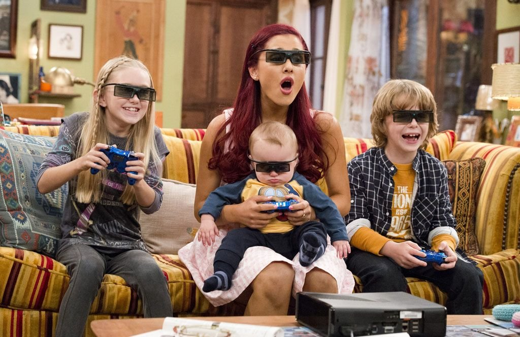 "Cat Valentine Ariana Grande in the ""Sam & Cat"" series premiere"