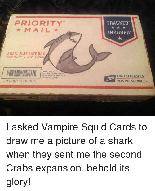 Shark United and CardsAgainstHumanity PRIORITY SMALL FLAT RATE BOX ONE RATE ANY WEIG