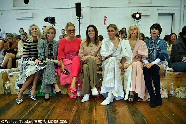 Mercedes Benz Fashion Week in Sydney Isabel was spotted sitting in the front row