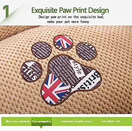 AcornPets B 1012 Deluxe Black British Style Extra Dog Bed Cat Pet Pillow Fleece 100 x 80