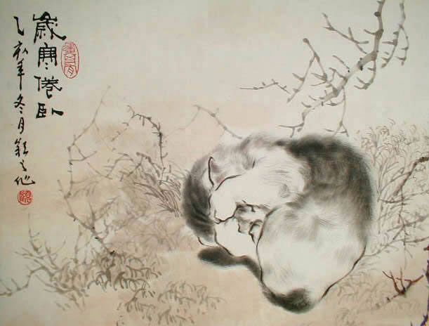 Already the Book of Rites attributed to Confucius remembered about the hosts of cats defending the granaries