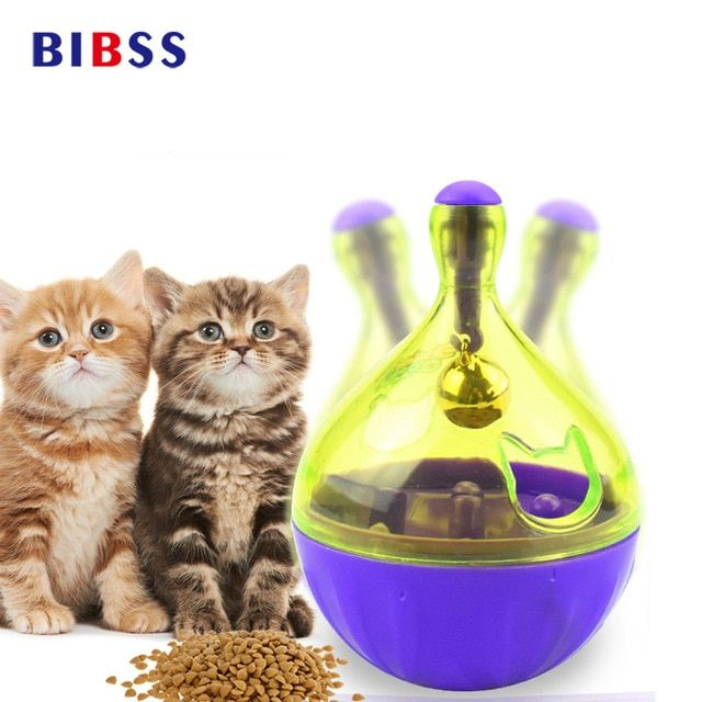 Funny Cat toys Interactive Cat IQ Treat Ball Toy Smarter Pet Toys Food Ball Food Dispenser