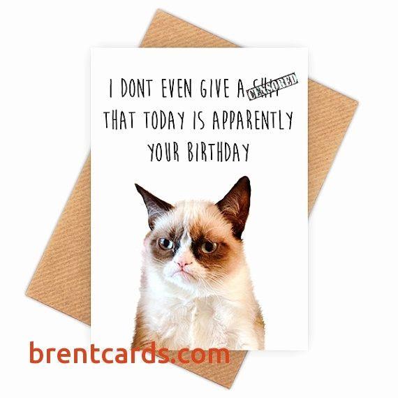 Grumpy Cat Birthday Cards Birthday Card Cats Printable Unique Printable Birthday Cards Funny Grumpy Cat