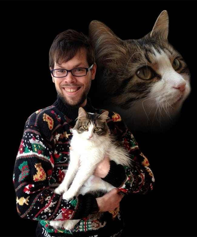 Ugly Christmas Sweater Portrait