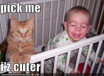 25 Cute Cat and Baby Funny To her London Beep funnycatpics funnybaby funnypictures babypics animalpics