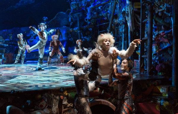 """Georgina Pazcoguin in the revival of """"Cats """" directed by Trevor Nunn in 2016 CreditRichard Termine for The New York Times"""