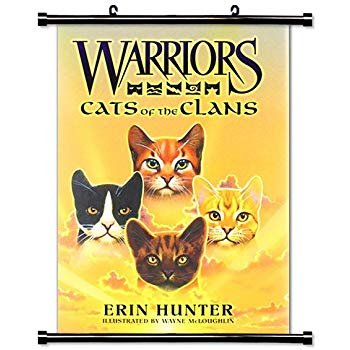 "Warriors Cats of the Clans Erin Hunter Fabric Wall Scroll Poster 16"" x 23"" Inches [BK]"