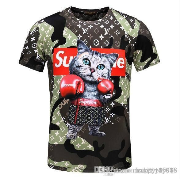 Violence Boxing Cat T Shirt Men And Women Lovers Summer T Shirt Slim Male Short Sleeve Cartoon Sports Leisure Half Sleeves Tee Shirt T Shirt Funny T Shirts