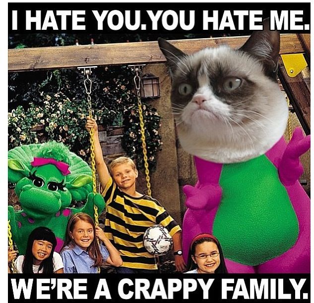 I hate you you hate me lets to her and drown Barney in a great big lake off a canoe after that we ll drown Dr Suess