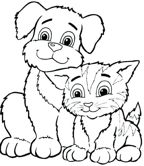realistic dog coloring pages dogs and cats sheets cute cat cats and dogs and cats coloring cat coloring pages free printable