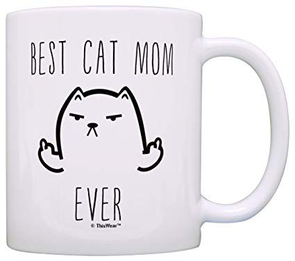 Funny Cat Gifts Best Cat Mom Ever Rude Cat Lovers Cat Memes Gift Coffee Mug Tea