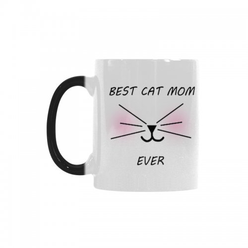 InterestPrint Funny Cat Gifts Best Cat Mom Ever Cat Lovers Cat Memes Gift Coffee Mug Tea Cup Morphing Mug 11 OZ