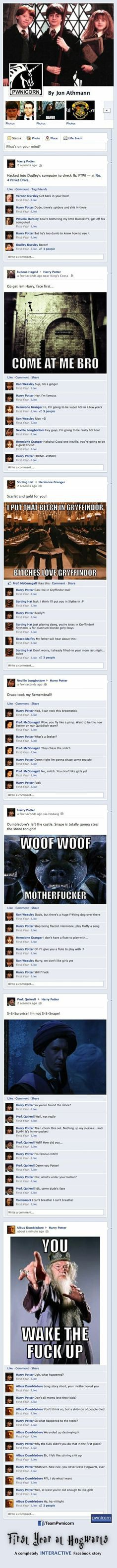 Harry Potter on FB funny pictures funny pics