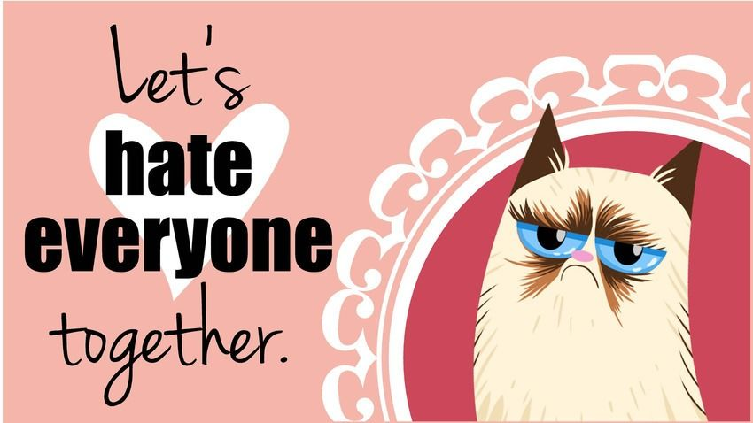 hate valentine attitude cover photos for
