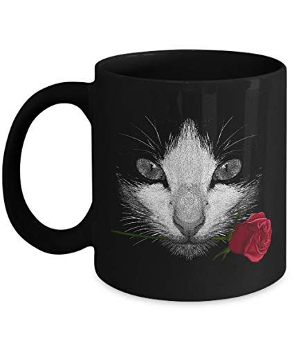 POISENA Black Cat Funny Cat Gifts Lovers Cat Memes Gift Coffee Mug Tea Cup