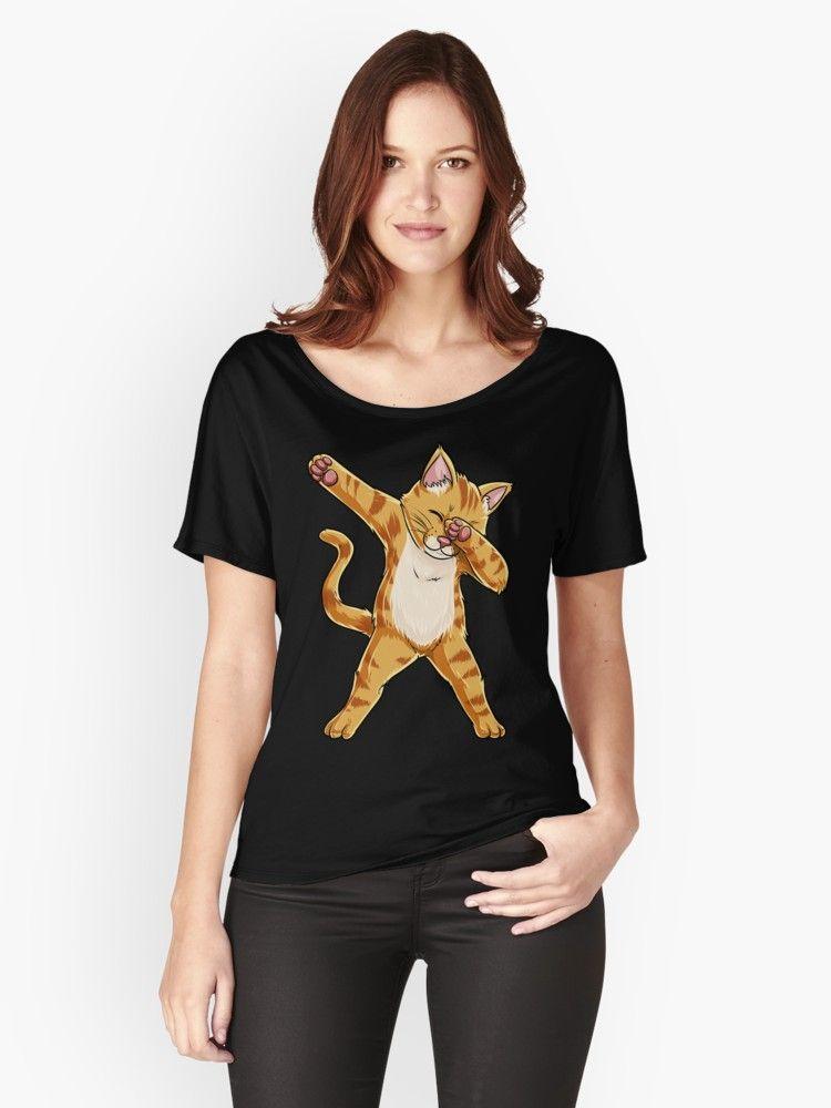 Dabbing Cat Shirt Funny Cats meme Kitty Kitten Dab Cat Lover Gifts T Shirt Women s