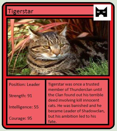 warrior cats trading card 2 tigerstar by docilehazard on