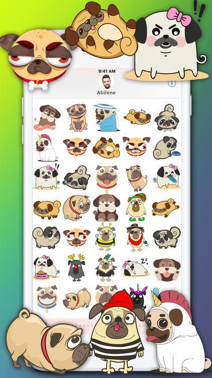 Funny Dog Stickers Cute Pet