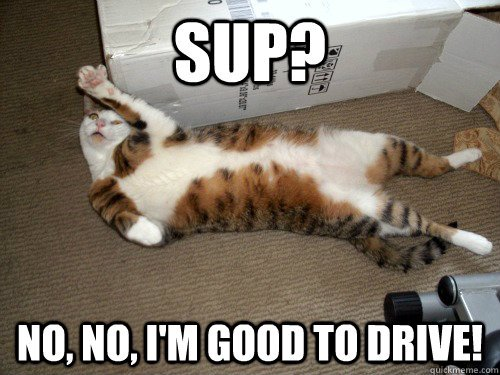 SUP No No I m good to drive