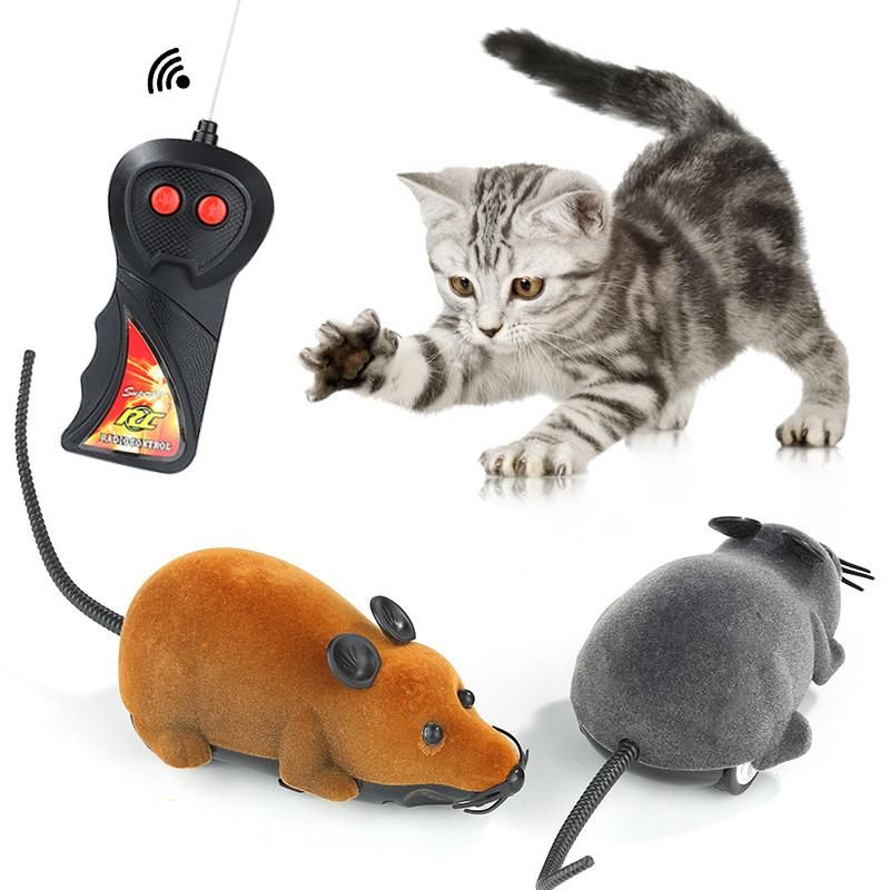 Funny Cat Toy Wireless Remote Control Mouse Electronic RC Rat Mice Pet Cat Toy Mouse Novelty Toys Gift DDA438 Virtual Cat Toys Wand Cat Toys From