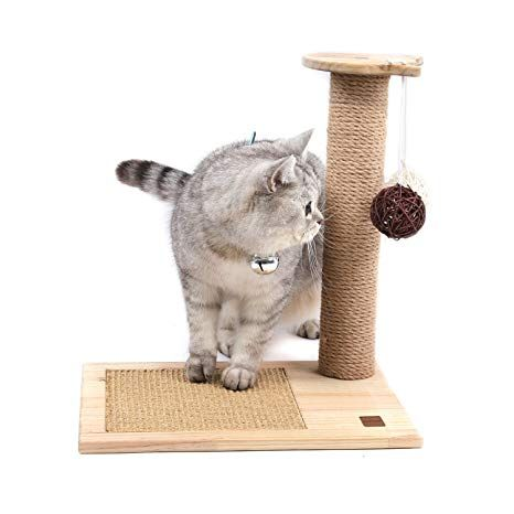 Sweet Devil Cat Scratching Post Activity Tree Detachable with Funny Toy Balls