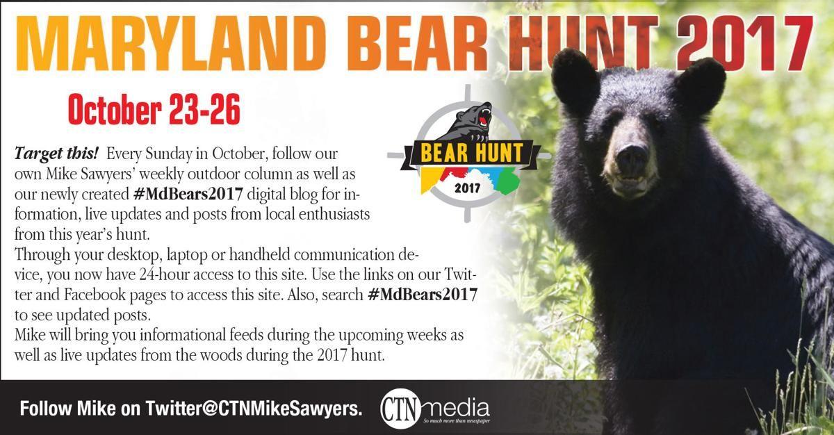 MdBears2017 — Maryland s 14th bear season will take place Oct 23 26 Bear Hunt