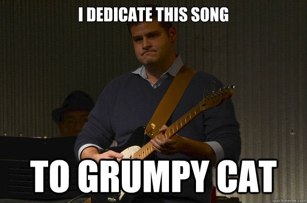 I dedicate this song to grumpy cat