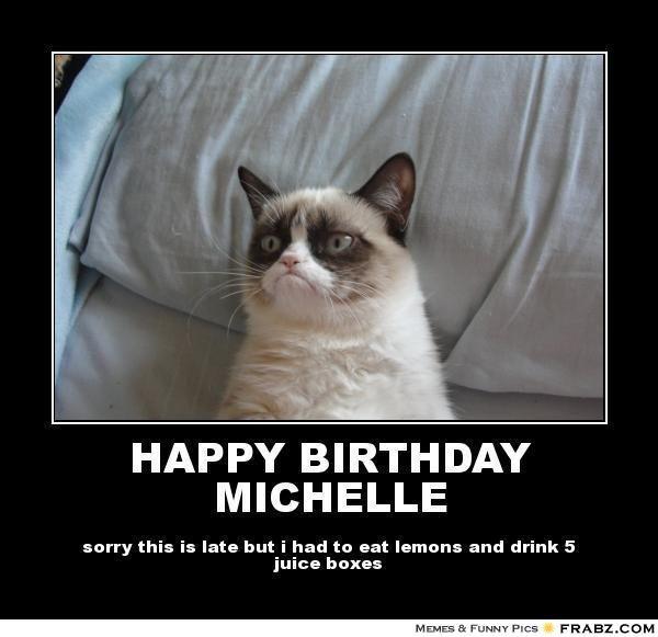 happy birthday michelle cat meme cat planet cat planet