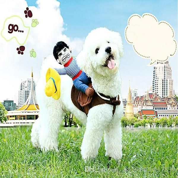 2018 Creative Funny Pet Clothes Horse Turned Cowboy Knight Tactic Dog Clothes Summer A Wide Variety Sizes From As bfl $5 88