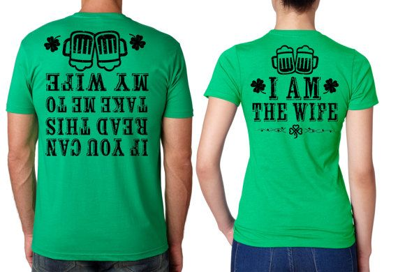 Saint Patrick s Day Funny T shirts Couple tees Green t shirts for st Paddy s Day Saint Patty s day