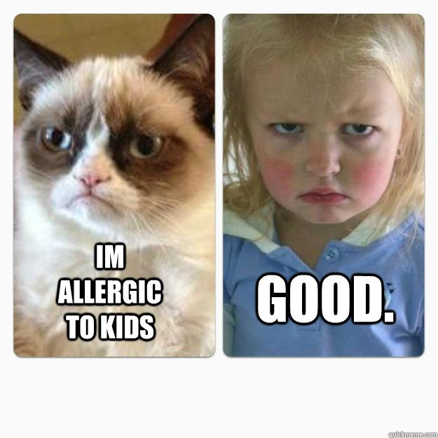im allergic to kids good