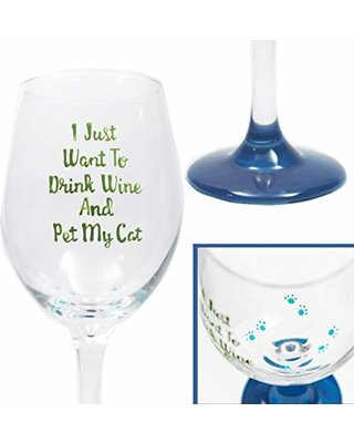 Funny Cat Wine Glasses Painted 20oz