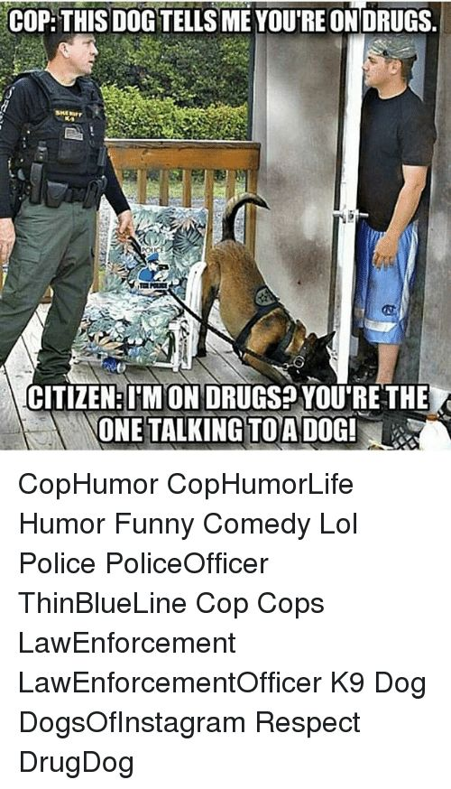 Drugs Funny and Lol COP THIS DOGTELLS ME YOURE ON ORUGS