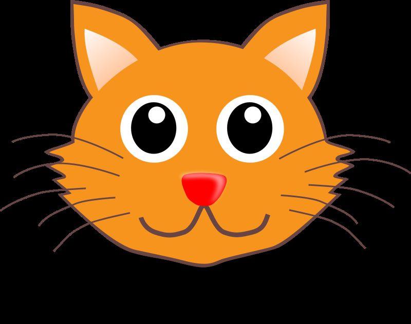 Cat 001 Face Cartoon