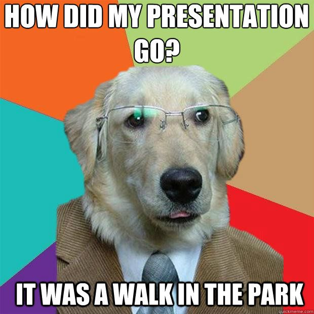 It was a walk in the park Business Dog