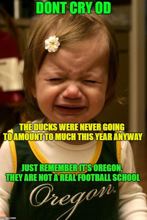 DONT CRY OD THE DUCKS WERE NEVER GOING TO AMOUNT TO MUCH THIS YEAR ANYWAY JUST