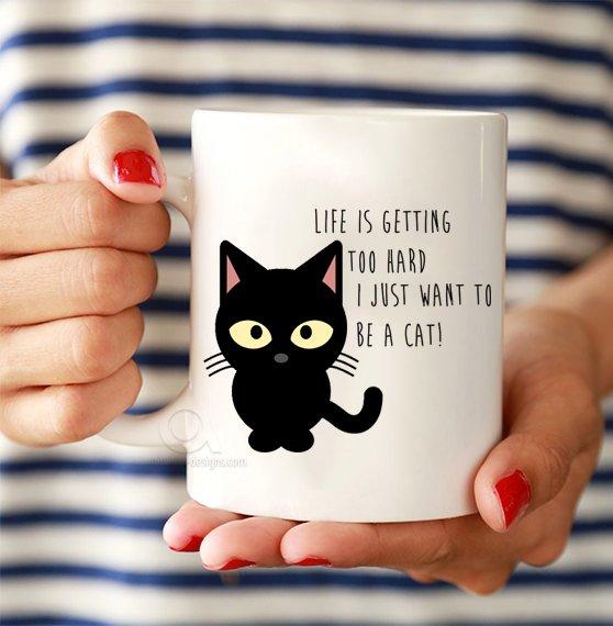 Funny cat ts Black cat mugs Gift for cat lover
