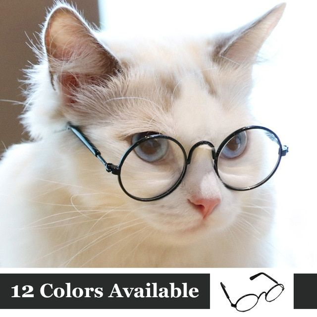 Funny Eye wear Cat Glasses Cool Sunglasses For Small Dogs Halloween Cosplay s Props Pet