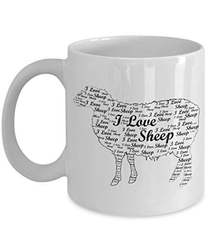 Sheep Lover Gifts I Love Sheep Word Art Design Best Funny Cool Animal Lover Gift 11