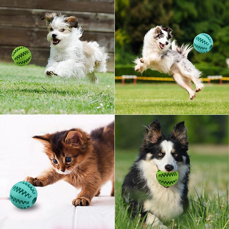 Pet Dog Toys Extra tough Rubber Ball Toy Funny Interactive Elasticity Ball Dog Chew Toys For Dog Tooth Cleaning Ball Food