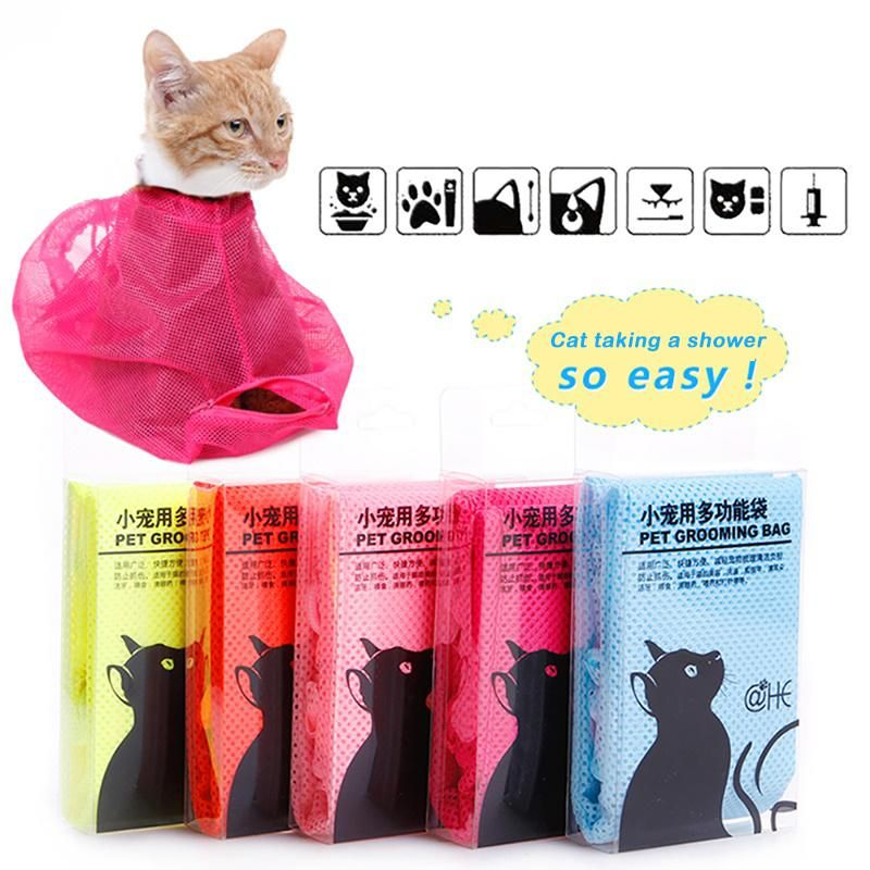 2018 Cat Supplies Wash Cat Bag Bath Cut Nails Clear Ears Anti Catch Bag Medicine Injection Fixed Bag From Joyset $14 89